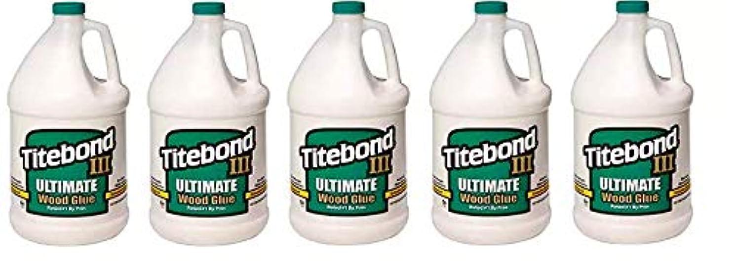 Titebond 1416 III Ultimate Wood Glue, 1-Gallon (5-(Pack))
