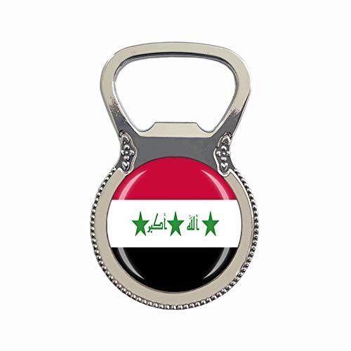 Kühlschrankmagnet mit irakischer Flagge, Bierflaschenöffner, Kühlschrankmagnet, Metall, Glas, Kristall, Reisesouvenir, Geschenk, Heimdekoration