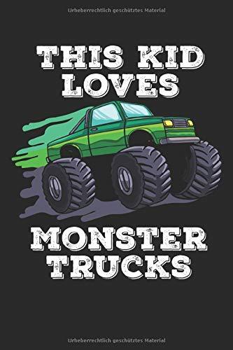 Monster Truck Notizbuch: Monster Truck Notizbuch / Notizheft / Notizblock A5 (6x9in) Dotted Notebook / Punkteraster / 120 gepunktete Seiten