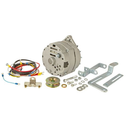 One-Wire 63 amp Alternator Conversion Kit Replacement For Ford 8N Tractor With Side Mount Distributor #263844-Up