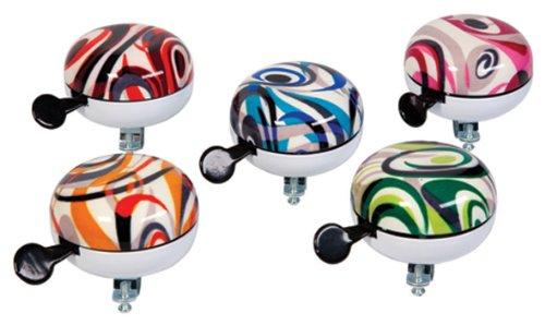 Widek Campanello per Bicicletta da Donna, 11 cm, Colori Bianco, Rosso, Blu, Verde e Viola