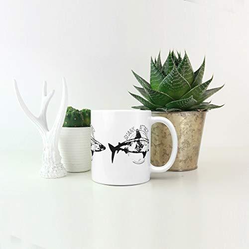 XJJ88 Cappuccino-Tasse mit Henkel, Porzellan, glänzend, handbemalt, Halloween, Anzug für Schlafsaal, 325 ml, Keramik, weiß, 11oz