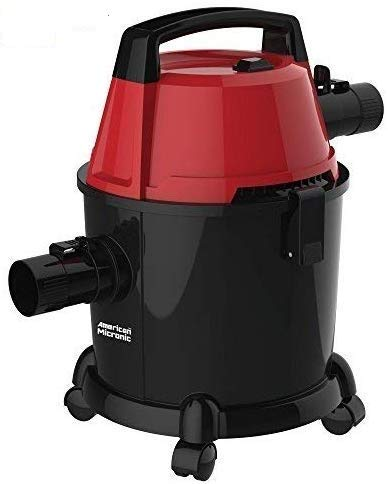 American MICRONIC AMI-VCD15-1600WDx- Imported 15 Litre Wet & Dry Vacuum Cleaner with Blower & HEPA Filter, 1600 Watts 100% Copper Motor 28 KPa Suction with Washable dust Bag (Red/Black)