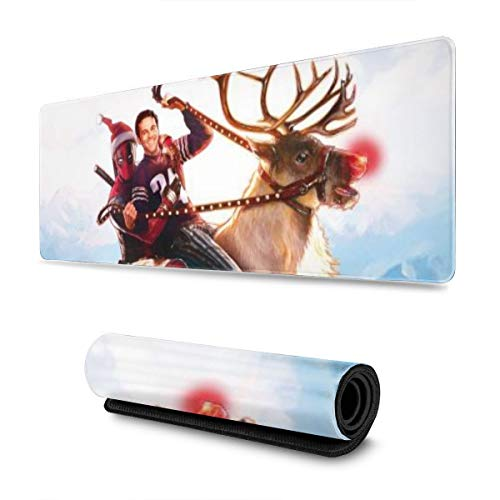 Dead_Pool Waiter Deer Gaming Mouse Pad Large Custom Mousepad Pads for Laptop Computer,12x31.5 Inch Desk Cover Computers Keyboard Stitched Edges Office Ideal Mouse Mat