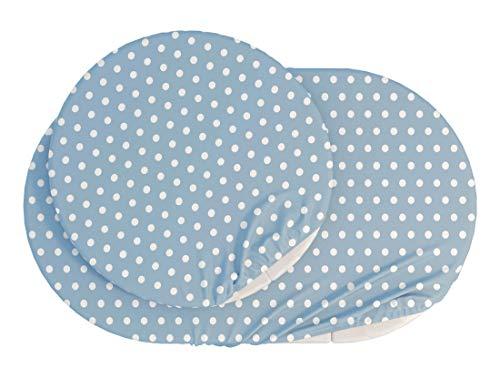 ComfortBaby Spannbettlaken für SmartGrow 7in1 – Blau mit weissen Kreisen (MADE IN EU – OEKO TEX 100 STANDARD)