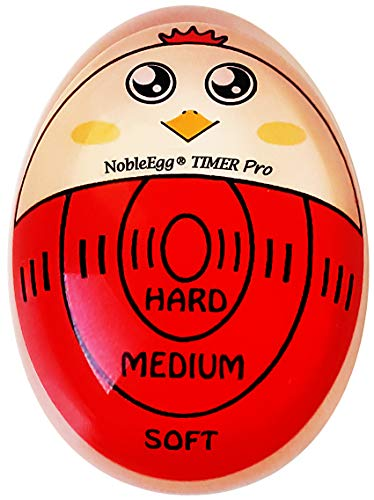 NobleEgg Egg Timer Pro | Soft Hard Boiled Egg Timer That Changes Color When Done | No BPA, Certified