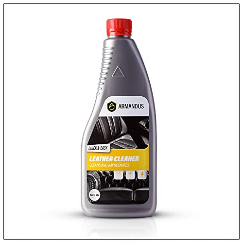 ARMANDUS 3-in-1 Leather Cleaner 500ml - Cleans, Conditions, Renews and Protects - Leather Cleaner for Cars and Furniture - All Purpose Care for Leather