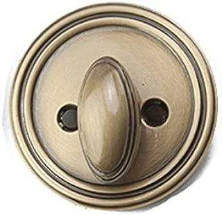 Deadbolt, 2 inch Backset, Low Profile - Antique Brass