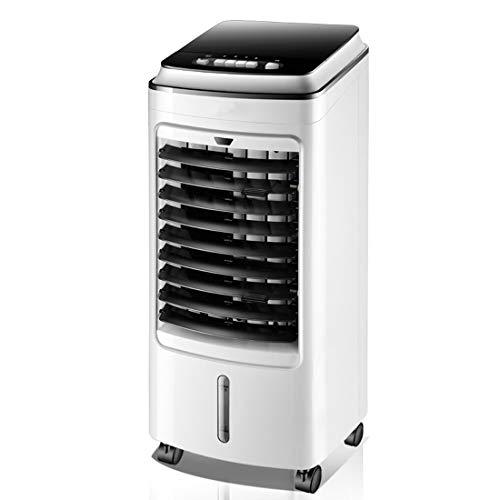 YJHH Climatizador Evaporativo Silencioso, Enfriador De Aire Portatil, Multifunción Pantalla LCD 3 Velocidades Ajustable Fácil De Usar Hogares, Oficinas Etc