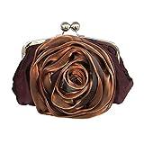 Damen Handtasche damentaschen Schultertasche Messenger-Bags Handtaschen Seidenrosenblume Clutch -