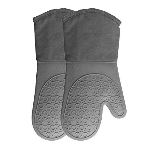 YIYUAN 1 par de manoplas de horno de silicona, resistentes al calor, resistentes al calor, guantes de cocina resistentes para el contador de seguridad para la cocina