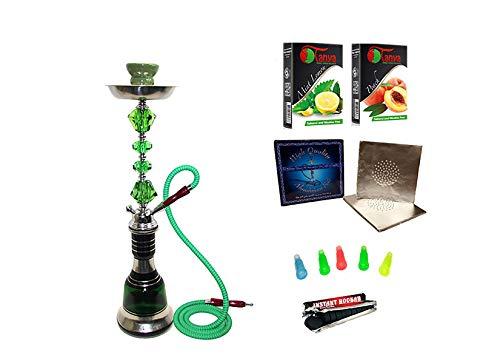 "Glass Hookah Shisha Nargile Smoke Pipe 14"" by Al Fakher (Green)"