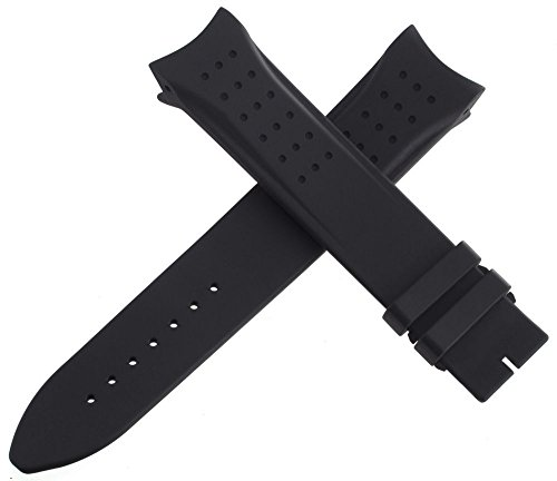 Jaeger Lecoultre mens OEM nero gomma Watch Band strap 150–75222mm...