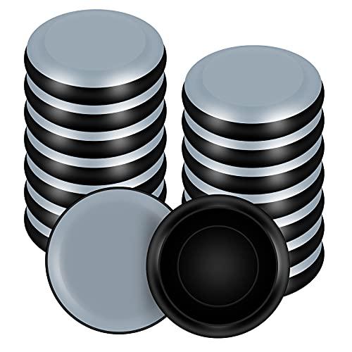 VABNEER Deslizadores para Muebles, 16 Piezas PTFE Teflón Redondos Posavasos de Muebles para Pisos Lisos y Alfombras (Adapta 25mm-29mm, Cantidad 16)