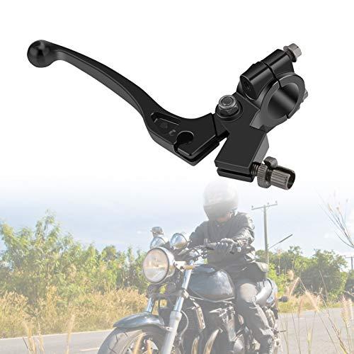 Palanca de Embrague Moto con Percha para Manillar de 22 mm 7/8'' 50CC - 125CC Piezas de Bicicleta de Ttierra, 1 Pieza, Negro