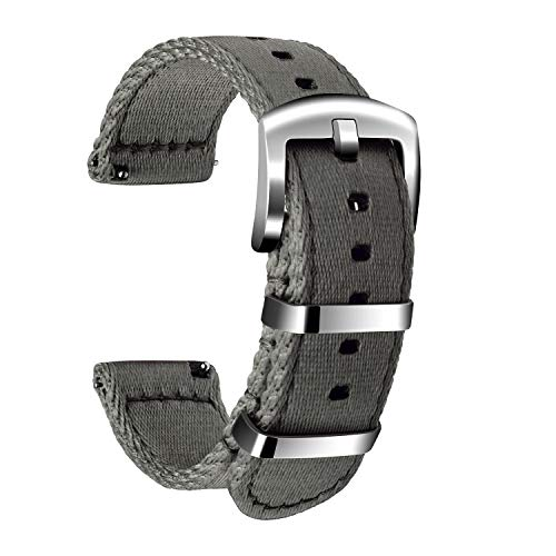 Ullchro Nylon Correa Reloj Calidad Alta Correa Relojes Militar del ejército - 18mm, 20mm, 22mm, 24mm Correa Reloj con Hebilla de Acero Inoxidable (22mm, Gray)