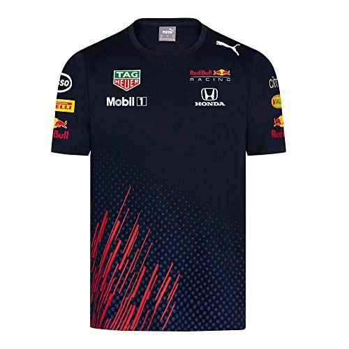Red Bull Racing Official Teamline T Shirt, Uomini Large - Abbigliamento Ufficiale