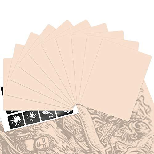 "INHEMI 10 Stück Tattoo Übungshaut Set,Profi Kunsthaut Tätowieren,Tattoo Praxis Haut Doppelseitig - 5.9X7.87"""