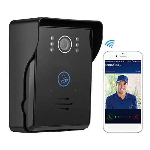 Generic TS-IWP708 Wifi Digital Wireless Video Tür Bell, Schwarz