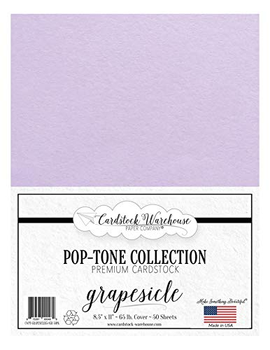 Grapesicle / Lavendar / Light Purple Cardstock Paper - 8.5 X 11 Inch 65 Lb. Cover -50 Sheets From Cardstock Warehouse