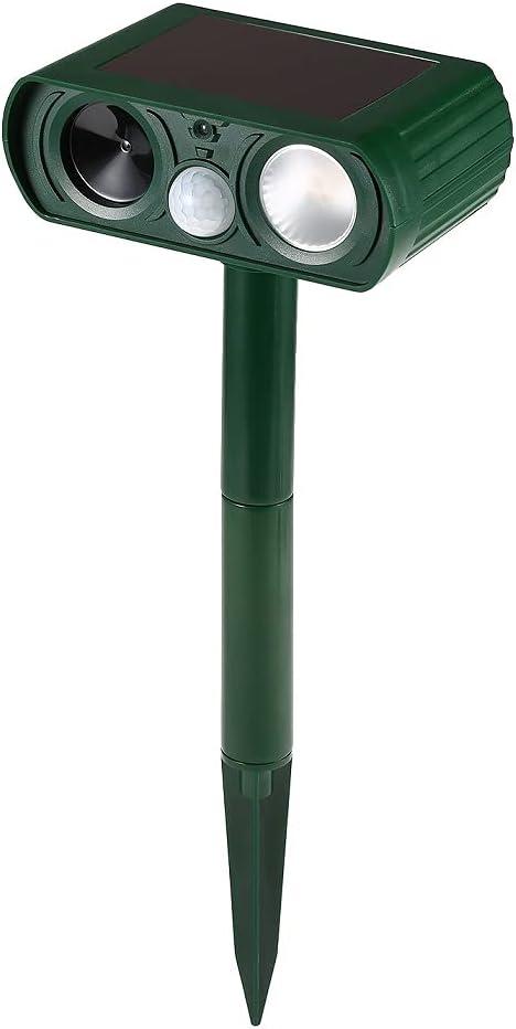 LOV HOME Ultrasonic Solar Animal Repellent with Flashing Light, Pest Repeller, Solar Powered Waterproof Outdoor forrepelling Moles, Rats, Snake