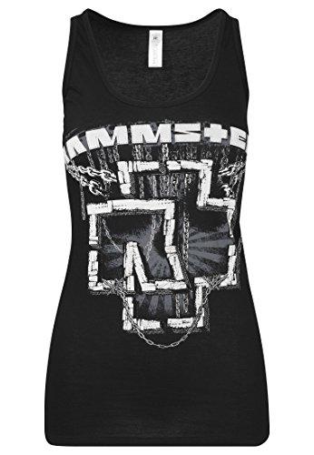 Rammstein - Camiseta de Tirantes para Mujer, Mujer, Camiseta de Tirantes Anchos, RS007, Negro, Large