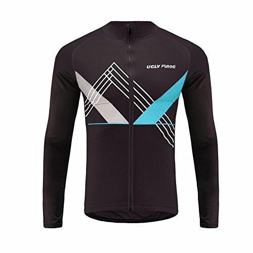 Uglyfrog HIWLJBJ19 2018-2019 MTB Uomo Ciclismo Magliette Maglia da Ciclismo a Maniche Lunghe Moda Colorata Winter del Manicotto Lungo Jersey