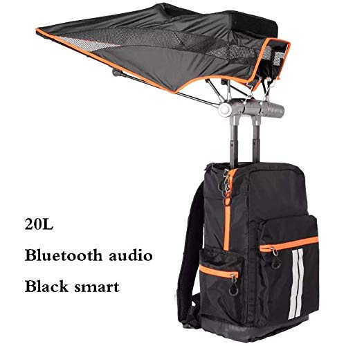 LPsweet Smart-Rucksack Regenschirm, 25L Intelligente Sonnenschutz Kühlung UV-Schutz Mountaineering Reisen Rucksack Mit Bluetooth Lautsprecher Unisex