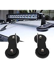 Soporte magnético de 2 piezas, soporte de montaje de barra de luz LED para techo Soporte de trabajo magnético fuerte (negro)