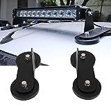 2 soportes magnéticos para barra de luz LED de techo, soporte de montaje magnético fuerte para luces de trabajo, para techo, tractores, todoterreno, negro