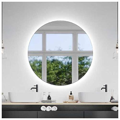 Espejo de pared redondo con iluminación LED