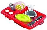 Jouets Ecoiffier – 956 - Égouttoir à vaisselle pour enfants + vaisselle et couverts – 22 pièces - Dès 18 mois – Fabriqué en France