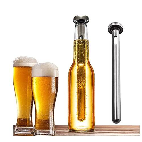 ZHIRCEKE 2 PCS Beer Cool Stick, Enfriador de Cerveza Acero Inoxidable Enfriador de Vino Cerveza Bebida Ceiker U. Accesorios de Vino más Largos para el Personal de la casa-al