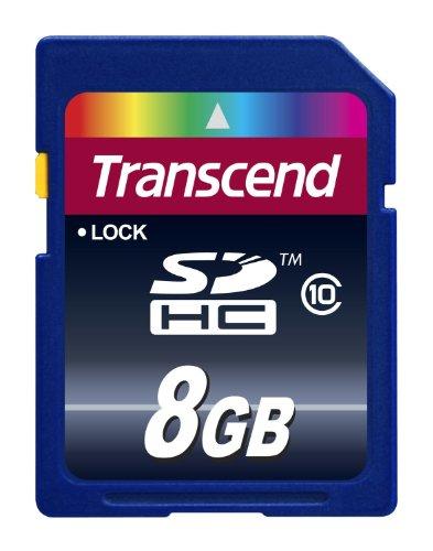 Transcend 8 Go Carte mémoire SDHC Classe 10 TS8GSDHC10E (30Mb/S) [Emballage « Déballer sans s'énerver par Amazon »]