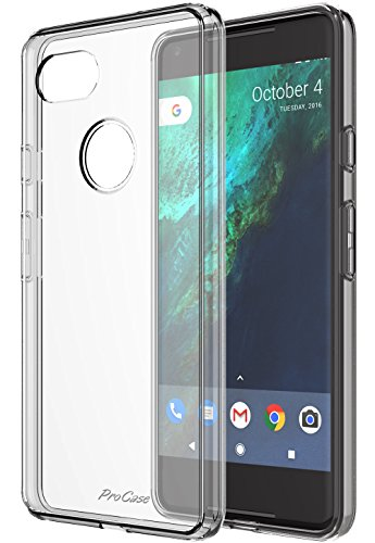 ProCase Google Pixel 2 XL Case Clear, Slim Hybrid Crystal Clear Cover Protective Case for Google Pixel 2 XL 2017 -Clear