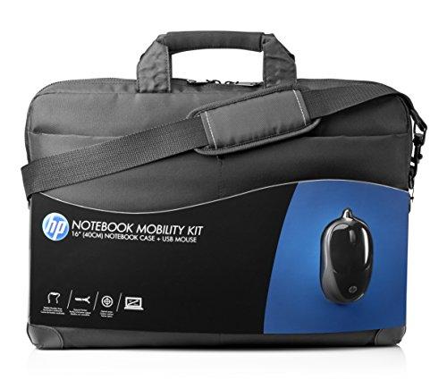 HP Mobility Kit (H6L24AA) Laptopt Tasche 40 cm (16 Zoll) inklusive kabelgebundene Maus, schwarz
