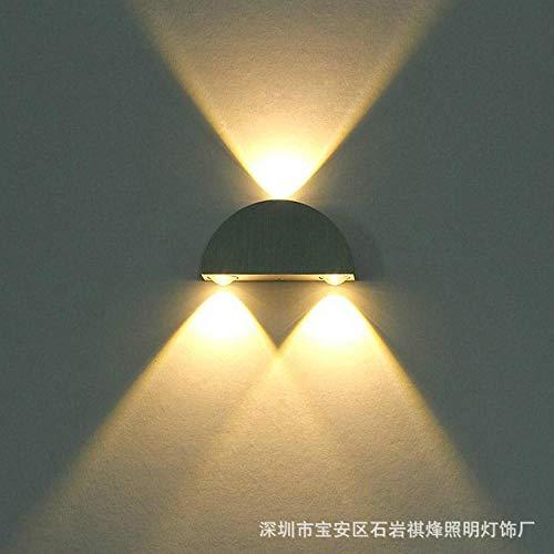 Wandlamp binnen buiten LED semicirkel creatieve dubbelkoppige aluminium lamp gang lamp hal achtergrondverlichting muur decoratieve lamp hotel KTV effect lamp, 9W