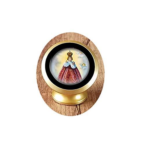 bab Colgante religioso católico, collar cristiano, medalla de Jesús aproximadamente magnético para el coche, rotación de 360 grados desde el tablero de instrumentos