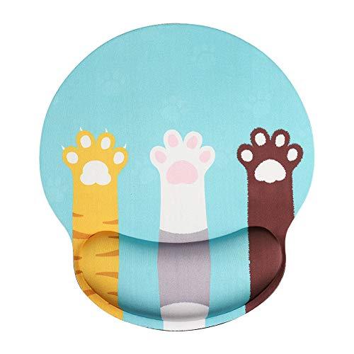 AOKSUNOVA Mauspad mit Handgelenkauflage Mousepad Handauflage rutschfeste Anti-Sehnenscheidenprobleme
