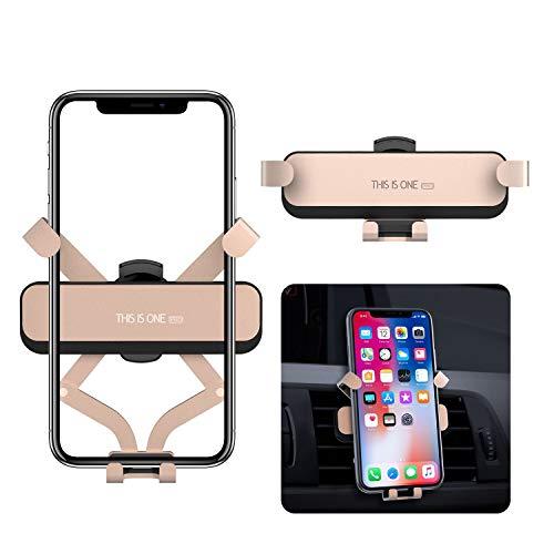 ORYCOOL Auto Handyhalterung, Universal KFZ Handy Halterung Lüftung, Schwerkraft Handyhalter fürs Auto, kompatibel füriPhone XS MAX/XR/X, Galaxy S10/S10 Plus/S9Plus (für 4,7'' - 6,5'') (Gold)