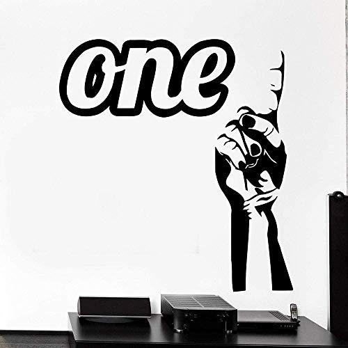 Dedo Mano Brazo Etiqueta de la pared Arte Dormitorio Decoración del hogar Sala de estar Etiqueta de la pared Regalo de la cocina 45X48Cm