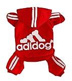 Rdc Pet Adidog Dog Hoodies, Clothes,Fleece Jumpsuit Warm Sweater,4 Legs Cotton Jacket Sweat Shirt...