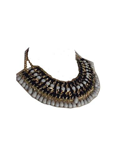 Ibiza Style Statement Kette Silber Collier Choker-Collier Halskette Indianer-Kette Ethnostyle