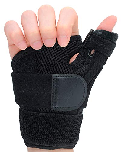 Thumb Brace, Thumb Splint with Wrist Support Brace, Breathable Wrist Brace for Carpal Tunnel, Thumb Stabilizer for Men Women, Arthritis or Tendonitis Pain Relief-Fits Both Hands