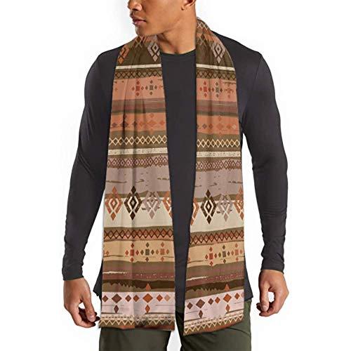 H.D. Pañuelo de algodón para hombre y mujer de invierno, estilo boho, diseño tribal, largo,...