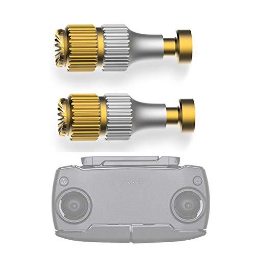 Luccase 1 Paar Fernbedienung Joysticks Gold Aluminiumlegierung Joystickstange Kompatibel mit DJI Mavic Mini Fernbedienung Einstellbare Legierung Daumen Rocker Stick