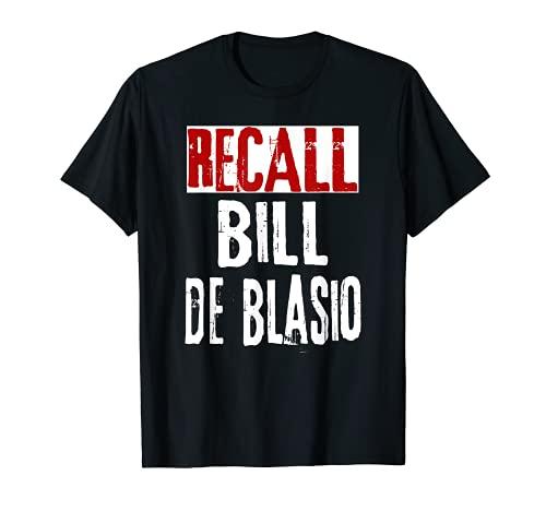 Recall New York NY Sindaco Bill de Blasio, Dump Bill DeBlasio Maglietta