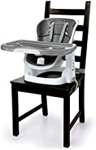 Ingenuity Infant-to-Toddler SmartClean ChairMate High Chair Booster Seat- Slate,1.0count