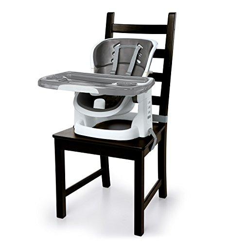 Ingenuity, Sitzerhöhung für Babys und Kleinkinder, Schiefer, mit verstellbaren Höhen und Positionen, abnehmbarem Tablett und mehr