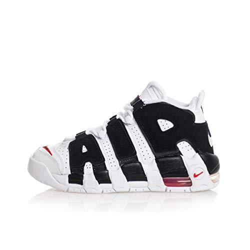 Nike Air More UPTEMPO (GS) Sneaker Scottie Pippen White Black Red 415082105